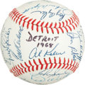 Autographs:Baseballs, 1968 Detroit Tigers Team Signed Baseball, PSA/DNA NM-MT+ 8.5....