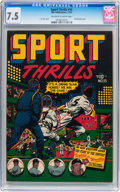 Golden Age (1938-1955):Miscellaneous, Sport Thrills #15 (Star Publications, 1951) CGC VF- 7.5 Off-white to white pages....