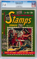 Golden Age (1938-1955):Non-Fiction, Stamps Comics #4 (Youthful Magazines, 1952) CGC FN/VF 7.0 Cream tooff-white pages....