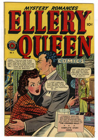 Ellery Queen #4 Mile High pedigree (Superior, 1949) Condition: VF+. This art for this title was produced at the Iger Sho...