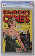 """Golden Age (1938-1955):Crime, Famous Crimes #2 Davis Crippen (""""D"""" Copy) pedigree (Fox Features Syndicate, 1948) CGC VF 8.0 Off-white pages. Lingerie cover..."""