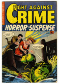 """Golden Age (1938-1955):Crime, Fight Against Crime #12 (Story Comics, 1953) Condition: FN-. CGC notes, """"#9-21 contain violent, gruesome stories with blood,..."""
