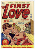 """Golden Age (1938-1955):Romance, First Love Illustrated #3 Mile High pedigree (Harvey, 1949)Condition: NM. Bob Powell art. Contains the infamous """"Was I Too ..."""
