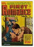 Golden Age (1938-1955):Romance, First Romance #13 (Harvey, 1952) Condition: VF/NM. Lee Elias cover.Overstreet 2006 VF/NM 9.0 value = $41; NM- 9.2 value = $...