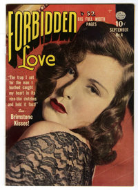 Forbidden Love #4 (Quality, 1950) Condition: VG/FN. Photo cover. Photo cover. Bill Ward and Chuck Cuidera art. Overstree...