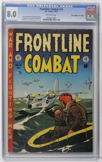 """Frontline Combat #14 Davis Crippen (""""D"""" Copy) pedigree (EC, 1953) CGC VF 8.0 Off-white pages. Wally Wood cover..."""