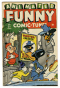 Golden Age (1938-1955):Funny Animal, Funny Tunes #21 Mile High pedigree (Timely, 1946) Condition: VF.Super Rabbit appearance. Two small (1/8-inch) tears on back...