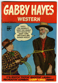 Gabby Hayes Western #4 Mile High pedigree (Fawcett, 1949) Condition: NM. Overstreet 2006 NM- 9.2 value = $210. From the...