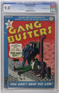 "Golden Age (1938-1955):Crime, Gang Busters #17 Davis Crippen (""D"" Copy) pedigree (DC, 1950) CGC VF/NM 9.0 Off-white pages. Frank Frazetta art. Overstreet ..."