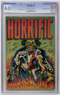 """Golden Age (1938-1955):Horror, Horrific #1 Davis Crippen (""""D"""" Copy) pedigree (Harwell, 1952) CGCFN+ 6.5 Cream to off-white pages. Text story by Ellen Ludw..."""