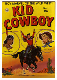 """Kid Cowboy #1 Davis Crippen (""""D"""" Copy) pedigree (Ziff-Davis, 1950) Condition: VF/NM. Lucy Belle and Red Feathe..."""