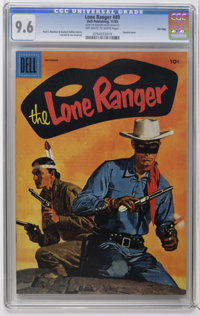 Lone Ranger File Copies CGC Group (Dell/Gold Key, 1950-67). Issues include #23 in CGC VF- 7.5, 27 in CGC VF+ 8.5, 28...