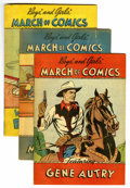 Golden Age (1938-1955):Miscellaneous, March of Comics File Copy Group (K. K. Publications, Inc., 1950-82) Condition: Average VF/NM. Issue include #54 (Gene Autry)... (Total: 9 Comic Books)