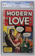"Golden Age (1938-1955):Romance, Modern Love #2 Davis Crippen (""D"" Copy) pedigree (EC, 1949) CGC VF 8.0 Off-white pages. Cover by Al Feldstein and Johnny Cra..."