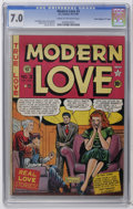 "Golden Age (1938-1955):Romance, Modern Love #3 Davis Crippen (""D"" Copy) pedigree (EC, 1949) CGCFN/VF 7.0 Cream to off-white pages. Story, cover and art by ..."