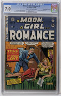 "Golden Age (1938-1955):Romance, A Moon, A Girl...Romance #9 Davis Crippen (""D"" Copy) pedigree (EC,1949) CGC FN/VF 7.0 Cream to off-white pages. First issue..."