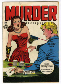 "Murder Incorporated #1 (Fox Features Syndicate, 1945) Condition: VG-. ""For Adults Only"" on cover. Overstreet 2..."