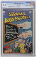 "Golden Age (1938-1955):Science Fiction, Strange Adventures #22 Davis Crippen (""D"" Copy) pedigree (DC, 1952)CGC VF 8.0 Off-white pages. Bob Oksner cover. Carmine In..."