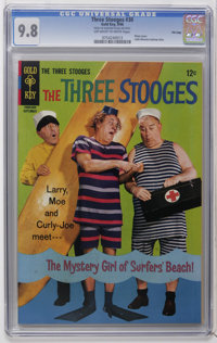Three Stooges #30 File Copy (Gold Key, 1966) CGC NM/MT 9.8 Off-white to white pages. Photo cover. Little Monsters back-u...