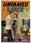 "Golden Age (1938-1955):Romance, Untamed Love #1 Davis Crippen (""D"" Copy) pedigree (Quality, 1950)Condition: VF. Bill Ward cover. Paul Gustavson art. Overst..."