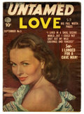 "Golden Age (1938-1955):Romance, Untamed Love #5 Davis Crippen (""D"" Copy) pedigree (Quality, 1950)Condition: VG/FN. Photo cover. Paul Gustavson art. Overstr..."