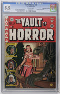 "Golden Age (1938-1955):Horror, Vault of Horror #23 Davis Crippen (""D"" Copy) pedigree (EC, 1952)CGC VF+ 8.5 Off-white pages. Used in Parade of Pleasure..."