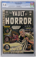 "Golden Age (1938-1955):Horror, Vault of Horror #24 Davis Crippen (""D"" Copy) pedigree (EC, 1952)CGC VF- 7.5 Off-white to white pages. Johnny Craig mini-bio..."