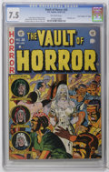 "Golden Age (1938-1955):Horror, Vault of Horror #28 Davis Crippen (""D"" Copy) pedigree (EC, 1953)CGC VF- 7.5 Off-white pages. Johnny Craig bondage cover. Cr..."