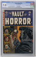 "Golden Age (1938-1955):Horror, Vault of Horror #32 Davis Crippen (""D"" Copy) pedigree (EC, 1953)CGC FN/VF 7.0 Off-white pages. Censored cover by Johnny Cra..."