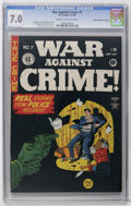 "Golden Age (1938-1955):Crime, War Against Crime #7 Davis Crippen (""D"" Copy) pedigree (EC, 1949) CGC FN/VF 7.0 Cream to off-white pages. Johnny Craig cover..."
