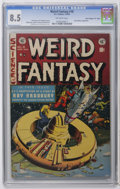 "Golden Age (1938-1955):Science Fiction, Weird Fantasy #18 Davis Crippen (""D"" Copy) pedigree (EC, 1953) CGCVF+ 8.5 Off-white pages. Ray Bradbury adaptation. Al Will..."