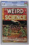 "Golden Age (1938-1955):Science Fiction, Weird Science #6 Davis Crippen (""D"" Copy) pedigree (EC, 1951) CGCVF- 7.5 Off-white pages. Al Feldstein cover. Feldstein, Wa..."