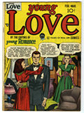 """Golden Age (1938-1955):Romance, Young Love #1 Davis Crippen (""""D"""" Copy) pedigree (Prize, 1949)Condition: FN+. Joe Simon and Jack Kirby cover art. Overstreet..."""