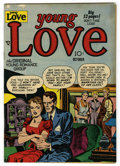 """Golden Age (1938-1955):Romance, Young Love #14 Davis Crippen (""""D"""" Copy) pedigree (Prize, 1950)Condition: VF-. Joe Simon and Jack Kirby cover. Overstreet 20..."""