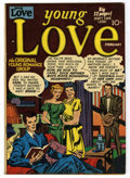 """Golden Age (1938-1955):Romance, Young Love #18 Davis Crippen (""""D"""" Copy) pedigree (Prize, 1951)Condition: VF-. Joe Simon and Jack Kirby cover. Overstreet 20..."""