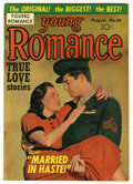 "Golden Age (1938-1955):Romance, Young Romance Comics #36 Davis Crippen (""D"" Copy) pedigree (Prize,1951) Condition: VF/NM. Photo cover. Joe Simon, Jack Kirb..."