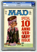 Magazines:Mad, Mad #72 (EC, 1962) CGC VF/NM 9.0 Off-white to white pages. 10thanniversary issue. Kelly Freas cover. Comic strip parodies i...