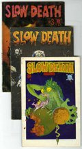 Bronze Age (1970-1979):Alternative/Underground, Slow Death #1-8 Group (Last Gasp, 1970-77). Includes #1 (white border edition - VG), #2 (second printing - GD), #3 (first pr... (Total: 8 Comic Books)
