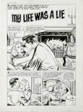 "Original Comic Art:Complete Story, Tom Hickey - True Love Problems And Advice Illustrated #15 Complete5-Page Story ""My Life Was a Lie"" Original Art (Harvey, 195..."