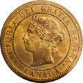 Canada: Victoria Cent 1876H, KM1, MS64 RED ICCS, fully lustrous and very attractive, scarce in this superior quality. Fr...