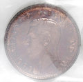 Canada: , Canada: George VI Cent 1947, KM32, Specimen 64 ICCS. Well struck Red and Brown....