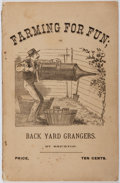"Books:Americana & American History, ""Bricktop"". Farming for Fun. Collin, 1881. Wrappers lightlyworn with chipping to spine ends. Minor toning and foxin..."