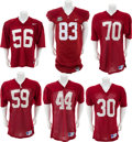 Football Collectibles:Uniforms, 1990's Alabama Tide Game-Worn Jersey With Bowl Jerseys - Lot of 12, Some Signed. ...