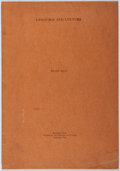 Books:Natural History Books & Prints, Franz Boas. Language and Culture. History of Culture, 1942. First separate edition. [8] pages. Minor toning and wear...