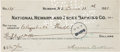 Autographs:Celebrities, Annie Oakley: Signed Check with Notations....