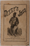 Books:Americana & American History, [Civil War]. E. F. Dixey. Dixey's Jokes. Winch, 1862. Lightwear to wrappers with some chipping and splitting at spi...