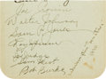Autographs:Others, 1930 Washington Senators Partial Team Signed Sheet with Walter Johnson....