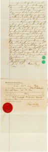 Autographs:Others, 1881 Alexander Cartwright Signed Document....