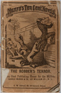 Books:Americana & American History, [Civil War]. Capt. Whitehead. The Robber's Terror. Munro,1864. Wrappers are tattered with rear detached. Scatte...