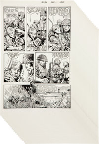"""Don Lomax Vietnam Journal #6 Complete 28-Page Story """"Tradition"""" Original Art Group (Apple Comics, 1988).... (T..."""